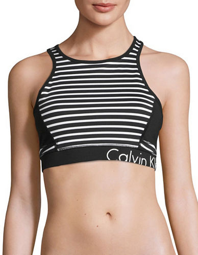 Calvin Klein Performance Spacedye Logo Sports Bra-BLACK COMBO-Large 89093758_BLACK COMBO_Large