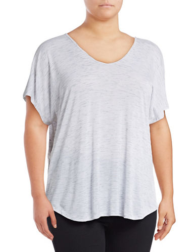 Calvin Klein Performance Plus T-Back Cut-Out T-Shirt-WHITE-1X 89159402_WHITE_1X