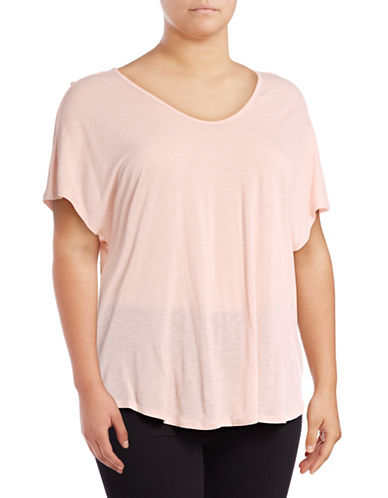 Calvin Klein Performance Plus T-Back Cut-Out T-Shirt-PINK-2X 89159400_PINK_2X