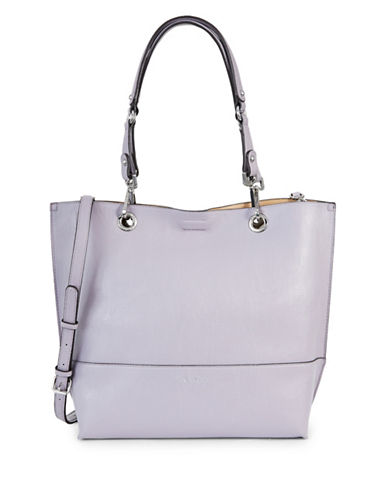 Calvin Klein Reversible Tote with Pouch-LILAC PURPLE-One Size