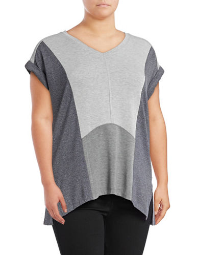 Calvin Klein Performance Plus Colourblock Pullover T-shirt-BLACK-1X 89159416_BLACK_1X