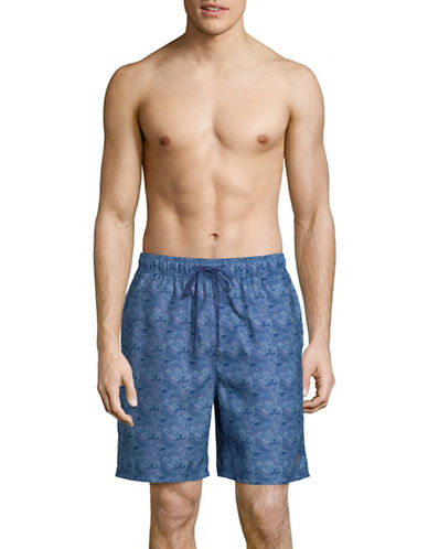 Calvin Klein Swirl Swim Shorts-INDIGO-Small