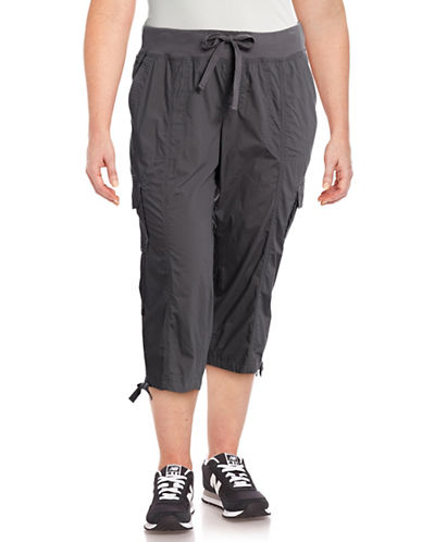 Calvin Klein Performance Plus Quick-Dry Drawstring Cargo Capris-GREY-2X 89159443_GREY_2X