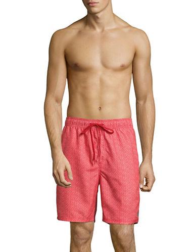 Calvin Klein Classic Volley Voltage Zig Shorts-RED-Medium