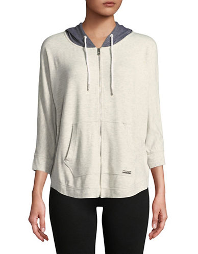 Calvin Klein Performance Cotton-Blend Hoodie-WHITE-Small