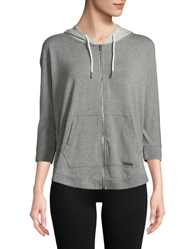 Calvin Klein Performance Cotton-Blend Hoodie-GREY-Medium