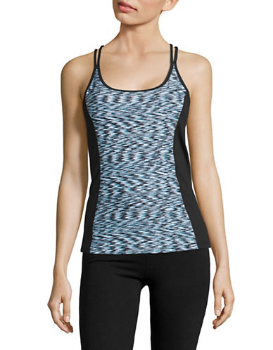 Calvin Klein Performance Print Blocked Tank Top-BLUE RADIANCE-X-Small 88988011_BLUE RADIANCE_X-Small