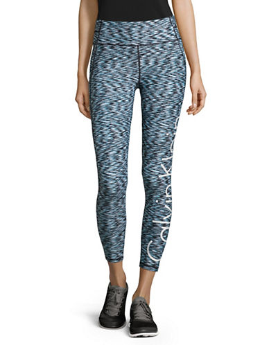 Calvin Klein Performance Melange Performance Leggings with Logo-BLUE RADIANCE COMBO-Small 88987979_BLUE RADIANCE COMBO_Small