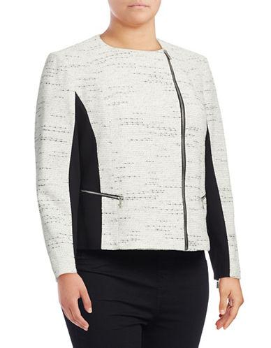 Calvin Klein Plus Tweed and Ponte Moto-Zip Jacket-WHITE-18W 88928574_WHITE_18W
