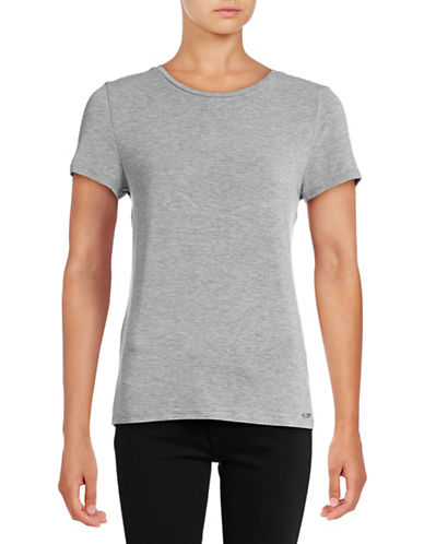Calvin Klein Jersey Tee-GREY-Medium