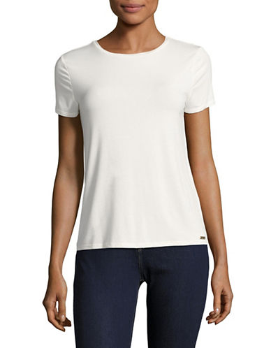 Calvin Klein Jersey Tee-BIRCH-Large