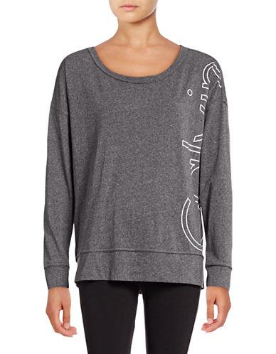Calvin Klein Performance Long Sleeve Logo T-Shirt-BLACK HEATHER-Large 88988002_BLACK HEATHER_Large
