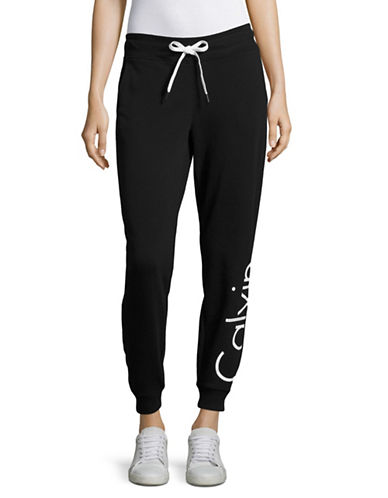 Calvin Klein Performance French Terry Logo Sweatpants-BLACK-Medium 88987968_BLACK_Medium