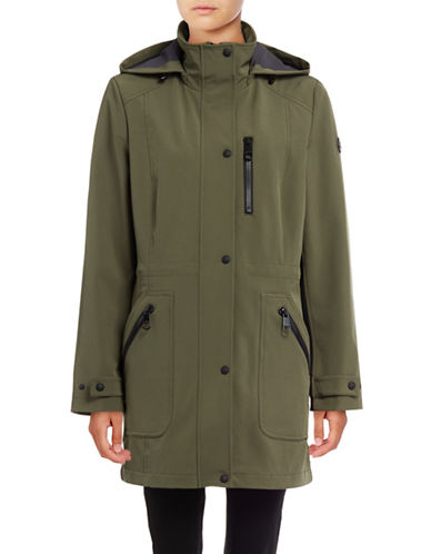 Calvin Klein Soft Shell Anorak with Mesh Lining-IVY-Medium