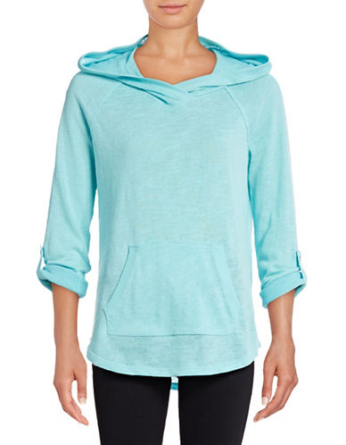Calvin Klein Performance Slub Knit Roll-Sleeve Hoodie-BLUE RADIANCE-Large 88988017_BLUE RADIANCE_Large