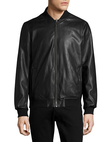 Calvin Klein Reversible Faux Leather Bomber Jacket-GREEN-Small 88909204_GREEN_Small