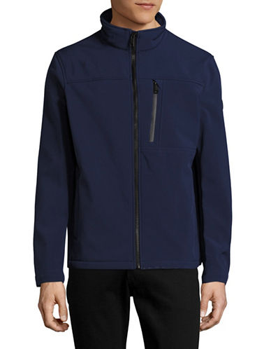 Calvin Klein Water-Resistant Stretch Soft Shell Jacket-BLUE-Small 88909196_BLUE_Small
