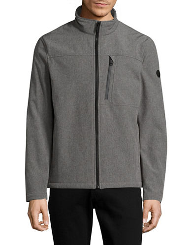 Calvin Klein Water-Resistant Stretch Soft Shell Jacket-GREY-Small 88909192_GREY_Small