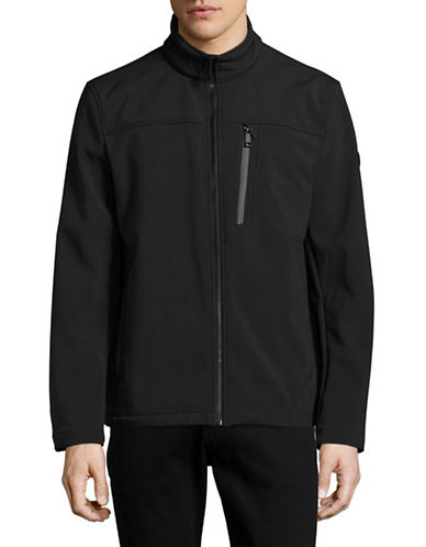 Calvin Klein Water-Resistant Stretch Soft Shell Jacket-BLACK-X-Large 88909191_BLACK_X-Large