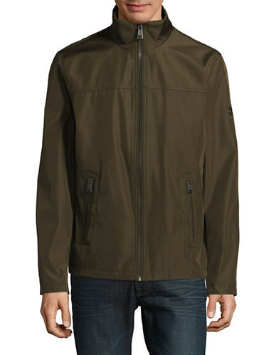 Calvin Klein Zip-Up Jacket-GREEN-Small