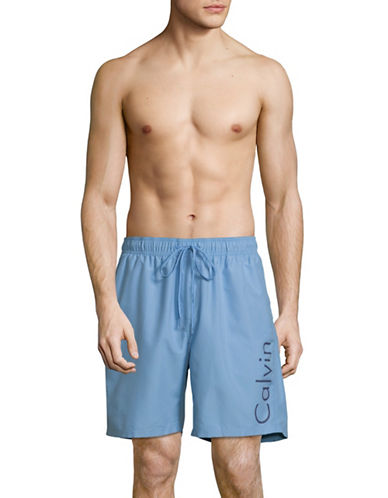 Calvin Klein Volley Swim Shorts-BLUE-Large