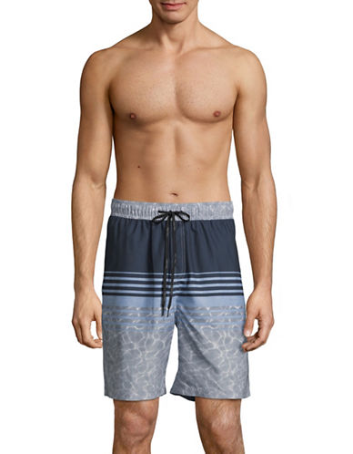 Calvin Klein Volley Swim Shorts-INDIGO-X-Large
