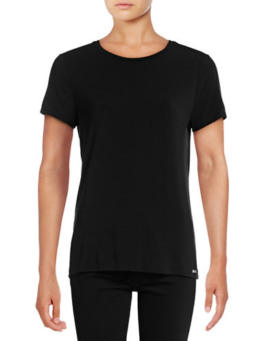 Calvin Klein Jersey Tee-BLACK-Medium