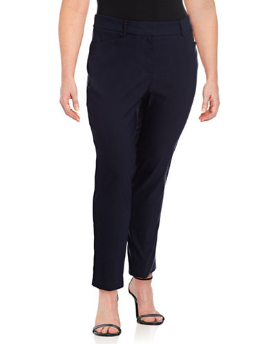 Calvin Klein Plus Slim-Leg Pants-BLUE-20W