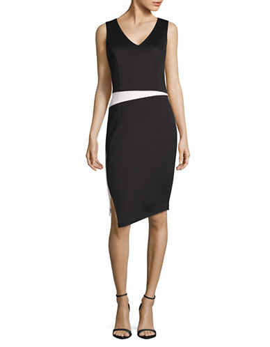 Calvin Klein Colourblock Sheath Dress-BLACK-8 88977349_BLACK_8