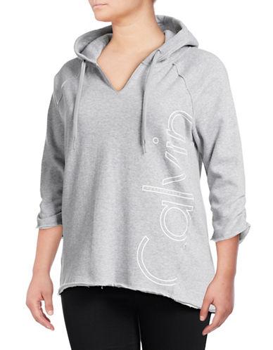 Calvin Klein Performance Plus Logo Cutoff Hoodie-SILVER-1X 88830076_SILVER_1X