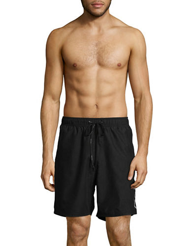 Calvin Klein Volley Swim Shorts-BLACK-XX-Large