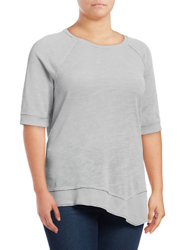 Calvin Klein Performance Plus Quick-Dry Asymmetrical Slub Tunic-GREY-1X 88937149_GREY_1X