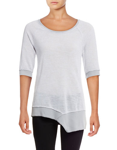 Calvin Klein Performance Quick-Dry Asymmetrical Slub Tunic-STONE-Large 88924086_STONE_Large