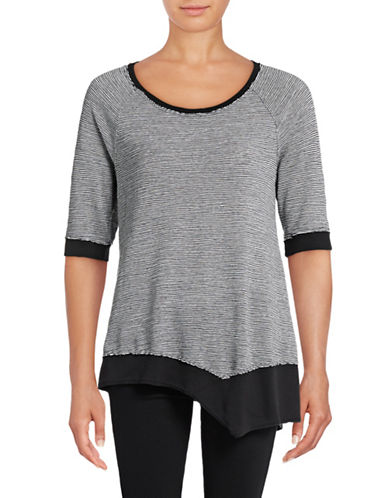 Calvin Klein Performance Quick-Dry Asymmetrical Slub Tunic-BLACK-Medium 88924082_BLACK_Medium