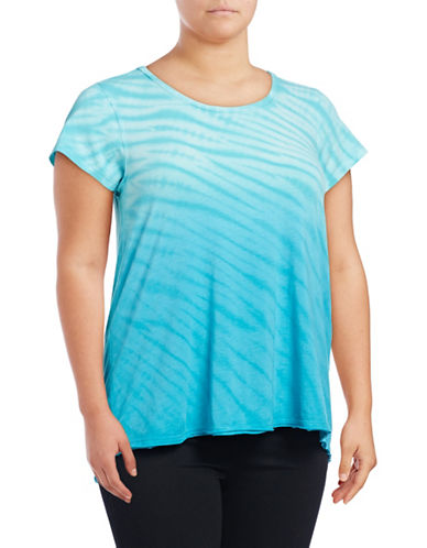 Calvin Klein Performance Plus Tie-Dye Stripe T-Shirt-BLUE-1X 88997782_BLUE_1X