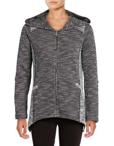 Calvin Klein Performance Sharkbite Hem Hoodie-BLACK-Medium 88924032_BLACK_Medium