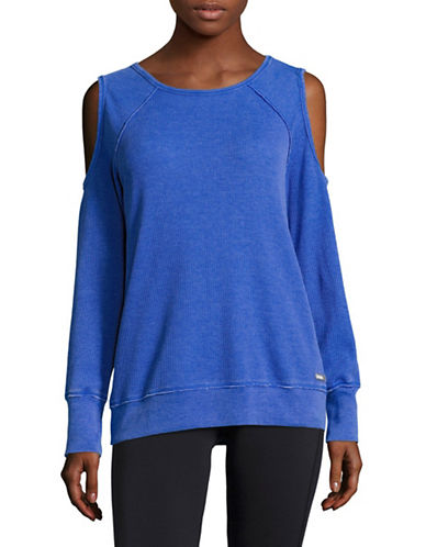 Calvin Klein Performance Cold-Shoulder Top-FUSION BLUE-X-Large 88924064_FUSION BLUE_X-Large