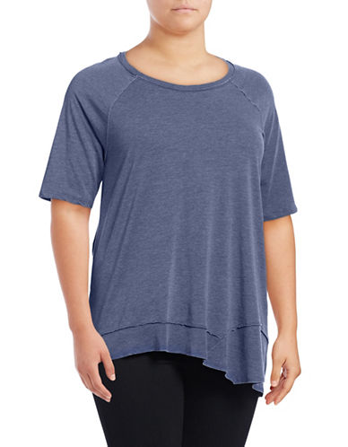 Calvin Klein Performance Plus Asymmetrical Hem T-Shirt-DARK BLUE-3X 88997808_DARK BLUE_3X