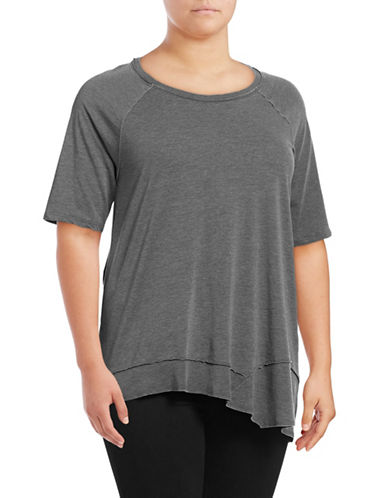 Calvin Klein Performance Plus Asymmetrical Hem T-Shirt-BLUE-2X 88997804_BLUE_2X