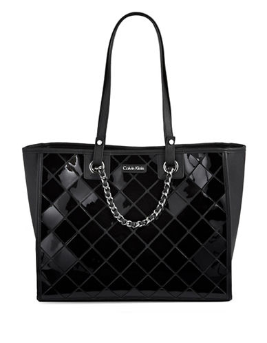 Calvin Klein Athleisure Diamond-Tile Tote-BLACK-One Size 88794371_BLACK_One Size