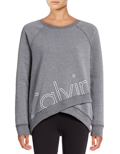 Calvin Klein Performance Outline Logo Wrap Sweatshirt-HEATHER GREY-Medium 88822722_HEATHER GREY_Medium