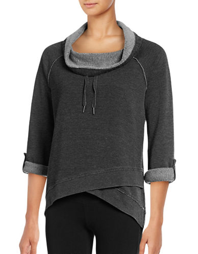 Calvin Klein Performance Waffle Knit Pullover-SLATE HEATHER-X-Small 88822690_SLATE HEATHER_X-Small