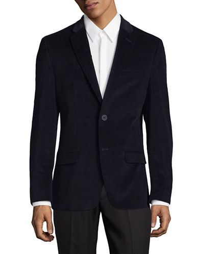 Tommy Hilfiger Corduroy Stretch Performance Sports Jacket-NAVY-40 Short