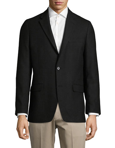 Tommy Hilfiger Notch Lapel Blazer-BLACK-48 Tall