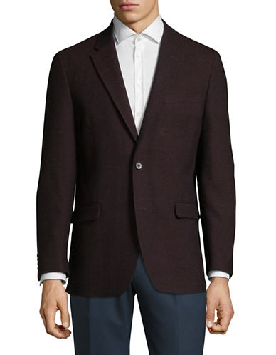 Tommy Hilfiger Side Vent Soft Sportcoat-RED-48 Tall