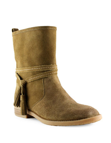 Tommy Hilfiger Boho-Inspired Tassel Booties-BROWN-7.5