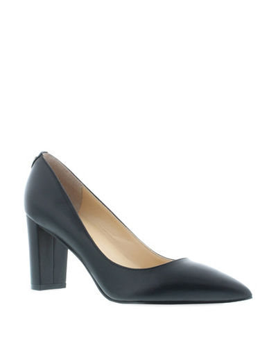 Ivanka Trump Lysa Point Toe Pumps-BLACK-7.5