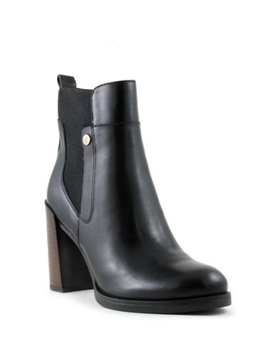 Tommy Hilfiger Britton Moto Ankle Boots-BLACK-8