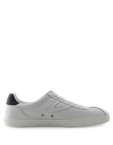 Tretorn Mtcamden2 EcoOrthoLite Insole Leather Sneakers-WHITE-8.5