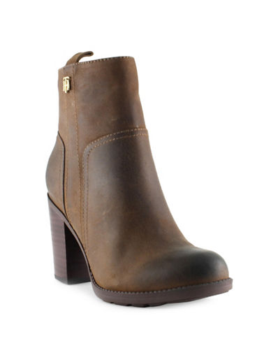 Tommy Hilfiger Darcell2 Military-Inspired Leather Ankle Boots-NATURAL-8